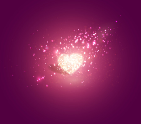 Shiny heart. Soft beautiful background for Valentines Day design vector.
