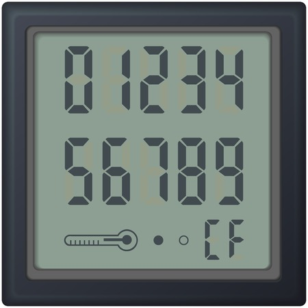 digital count clock watch, with different numbers vector