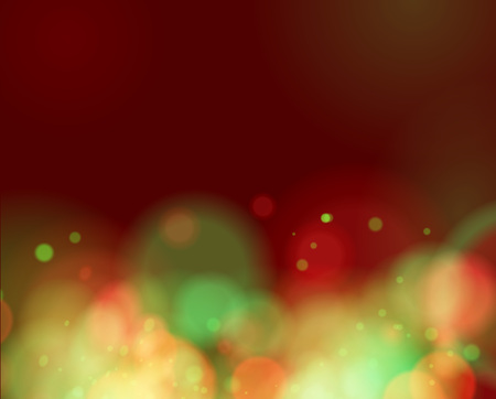 Red and green Lights on red background. vector