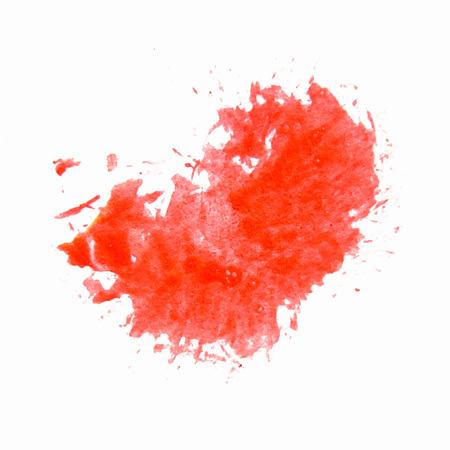 Grunge background. Red splash. Vector.