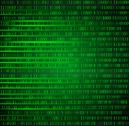 hexadezimale Computercode-Vektor-Hintergrundbild eps 10 Vektorgrafik