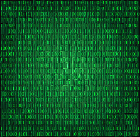 Binary computer code abstract vector background illustration. Ilustrace