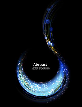 Shining blue bokeh illustration. Vector illustration eps 10 Vetores