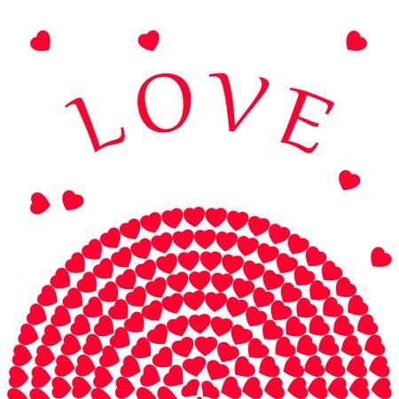 Happy Valentines day card hearts vector background Stock Illustratie
