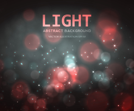 Festive light background with bokeh and blur, vector Stock Illustratie