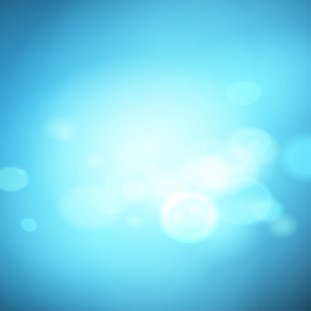 Abstract blue effect background with bokeh, vector Vettoriali