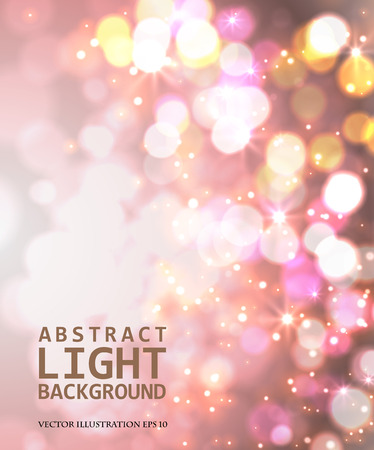 Festive light background with bokeh and blur, vector Illustration