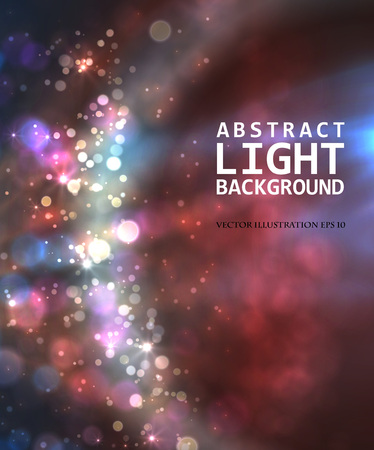Festive light background with bokeh and blur, vector Ilustração