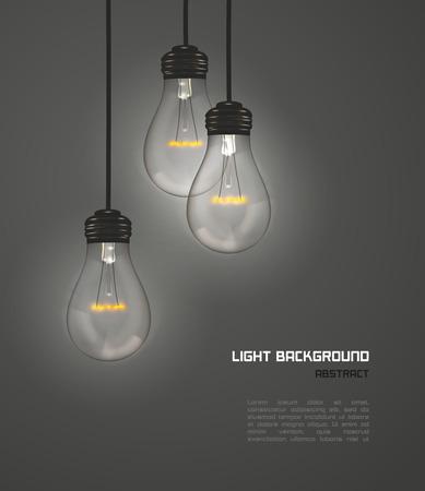 Kreatywny projekt lamp natury szary, wektor