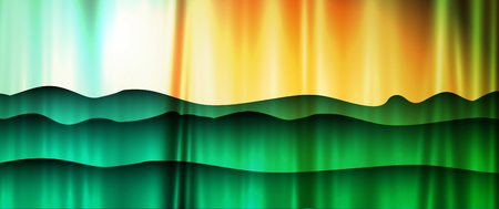 Abstract nature landscape backdrop. Colorful modern style vector.