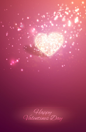 Shiny heart. Soft beautiful background for Valentines Day design
