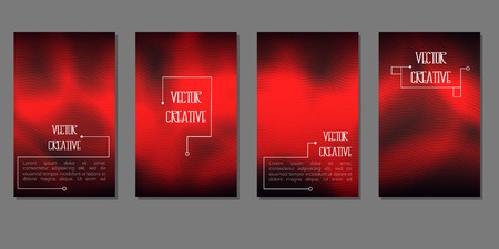 The 4 banners with one theme of design. Smooth light and shadow for flyers, web, cards, etc. Ilustrace