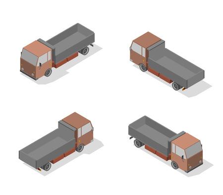 Isometric transport icon set. Simple flat to right, left, forward, backward. Ilustrace