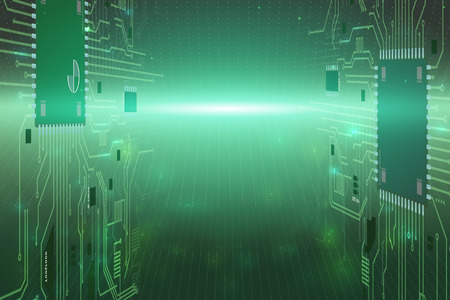 Cyberspase horizont technology virtual abstract network background. Ilustrace