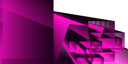 Abstract geometric background with shapes and gradient. Vector