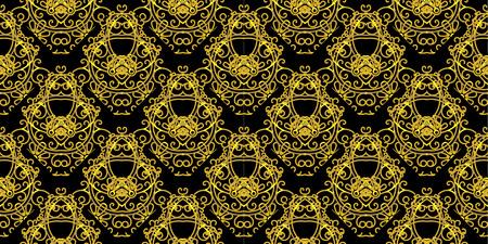 Stylish elegant mono line art pattern seamless, vector