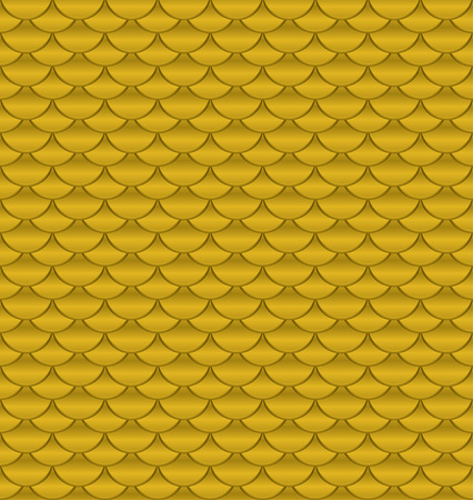 Gold squama. Seamless pattern with golden cells. Vector Ilustrace