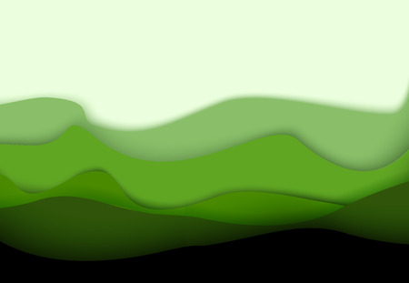 Green paper background with nature shadow. 3D design. Vector.