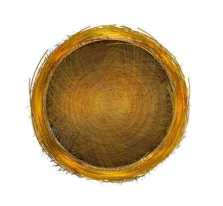 Nest or Basket. Empty for your design. Vector Illustration Ilustrace