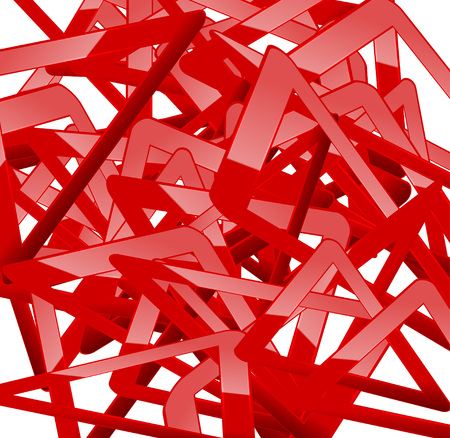 Abstract background Attention Red lines on white. Vector.