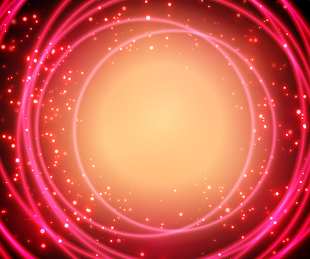 Abstract shining circles. Bright background with bokeh. Vector.