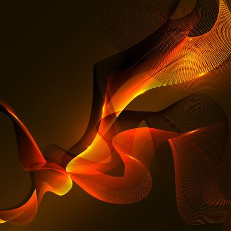 Modern colorful flow background. Wave shape in orange color design for your project. Vector illustration EPS10