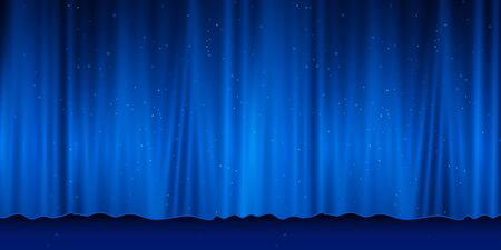 Curtain with scene. Smooth light effect for perfect backdrop vector illustration eps 10 Illustration