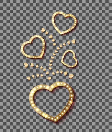 Light in Heart. Retro Style Romantic for your design. Vector illustration eps 10