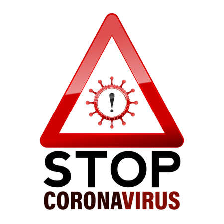 Stop Coronavirus 2019-nCov. The sign dangerous flu strain cases as a pandemic. Vector. Illustration