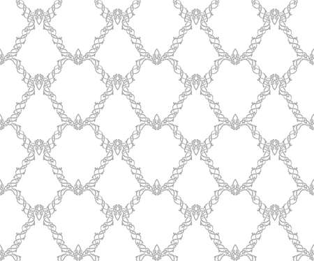 Damask and celtic style. A repeating pattern. Vector