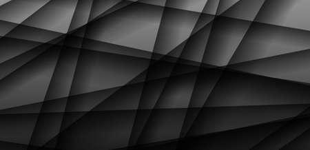 Dark gray background, geometric style with shadow.