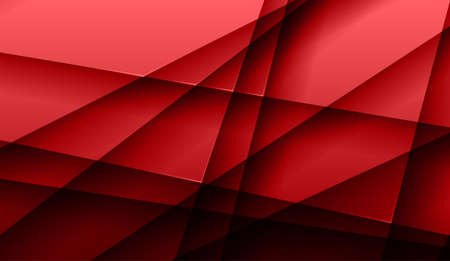 Red modern backdrop with stripes and shadow. Illustration