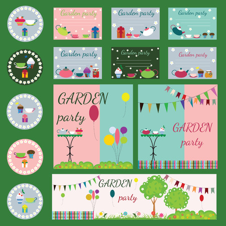 garden party: garden party collection for your design and scrapbooking Illustration