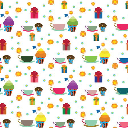 holiday party: Party and holiday pattern. Vector illustration Illustration