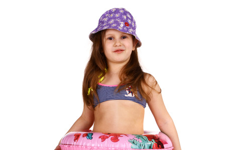 little child in swimming suit