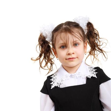 closeup image of a pretty little school girl
