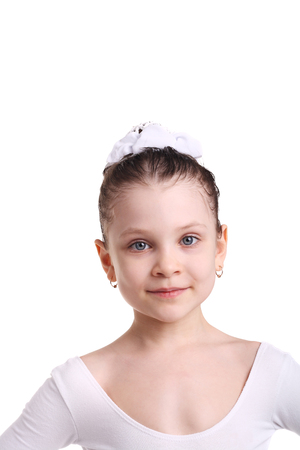 closeup image of a little ballet dancer Imagens