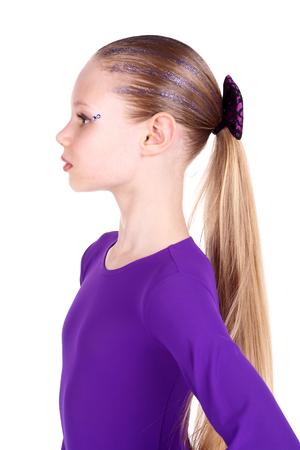 closeup image of a pretty blond teenage girl Stock Photo