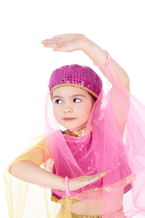 pretty little girl in the costume of the eastern beauty Stock Photo