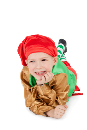 cute little child in the costume of the dwarf