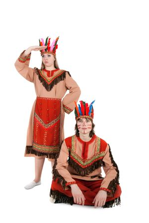 closeup image of the American Indian couple