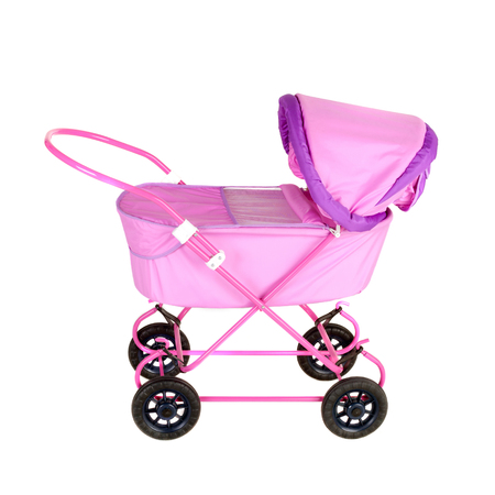 closeup image of the doll carriage Stock Photo