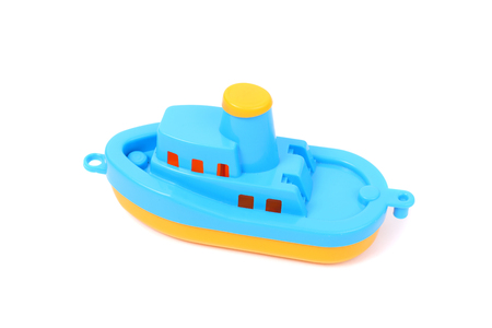 toy blue and yellow boat