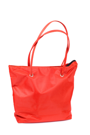 bright red comfortable bag closeup Stock Photo