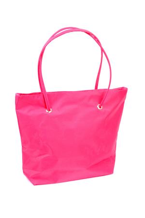 bright pink comfortable bag closeup Stock Photo