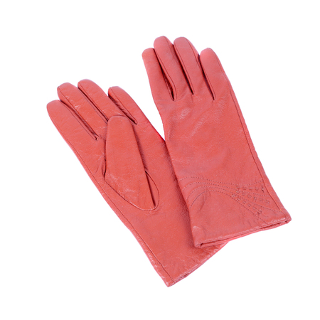 leather warm spring gloves closeup