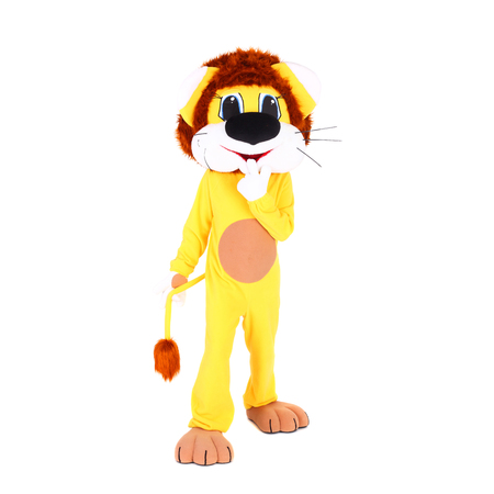 actor in the costume of the lion