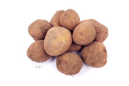 potato tubers isolated on white Stock Photo
