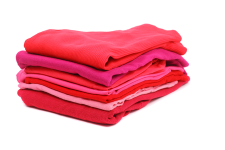 stack of woman red clothes
