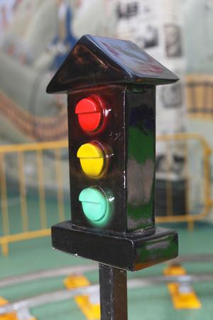 toy bright light signal closeup Banque d'images - 95809341